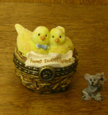 Boyds Treasure Box  #4019383 MR and MRS NESTLING'S HOME TWEET HOME...Mint/Box