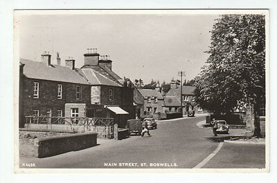 Post Office & Main Street St Boswells Roxburgh Real Photograph 16 Aug 1956