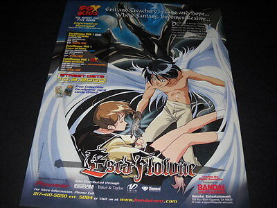 ESCA FLOWNE where fantasy becomes reality Vintage ANIME Promo Ad mint condition