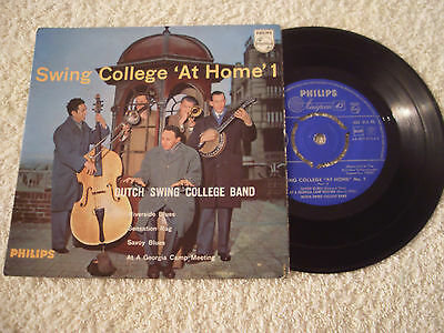 """Dutch Swing College Band....swing College At Home 1.....7"""" Ep..p/s..1959...jazz"""
