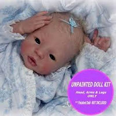 Reborn Doll kit Baby Morgan Soft Vinyl Silicone like Doll Kit by Aleina Peterson