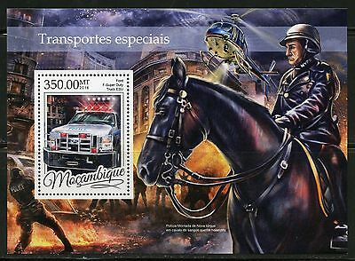 Mozambique 2016 Special Emergency Transport Souvenir  Sheet Mint Nh