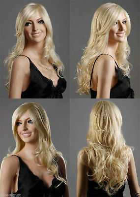 beautiful curly long vogue fashion mix blonde  hair wigs for women wig