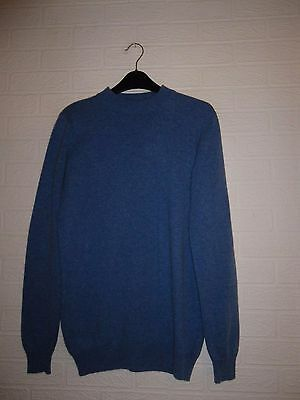 Woolovers  Airforce Blue Cashmere / Merino Wool Crew Neck Jumper - Size S