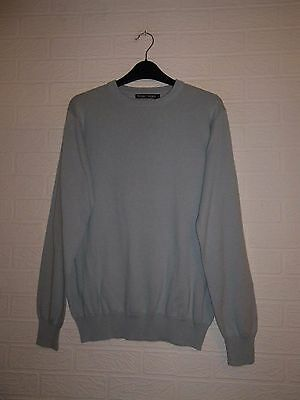 Woolovers Cotton / Cashmere Pale Blue Jumper / Sweater - Size S - Nwot