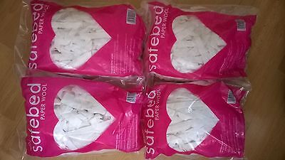 Petlife SAFEBED PAPER WOOL 4 x 140g bags nesting small animal bedding pet BNIP