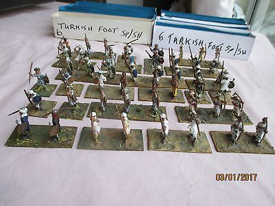 """48 x """"Ottoman Empire (1857) Turkish Foot"""" Hand Painted Figures NOT TOYS!"""