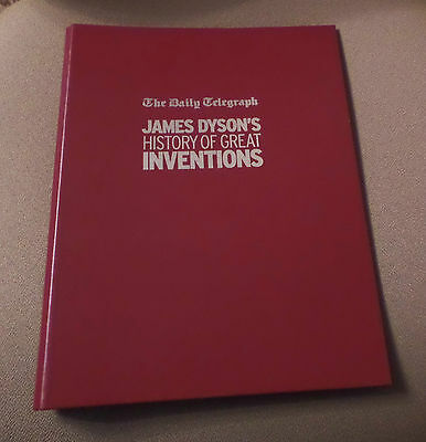 Daily Telegraph Series of 6 x James Dyson Inventions Magazines with Binder