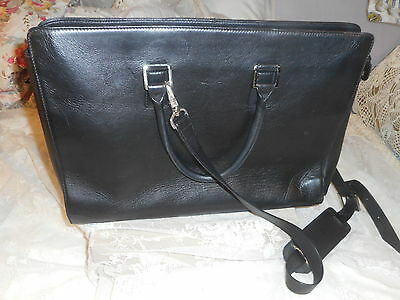 FRANKLIN   COVEY   full  grain  leather  black  briefcase , laptop  tote