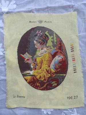 FREE POSTAGE - Vintage Finest Needlepoint Tapestry Royal Paris Completed