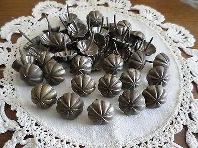 """Antique upholstery tacks Lot of 50 3/4"""" Tacks~From Antique Upolstered Furniture~"""
