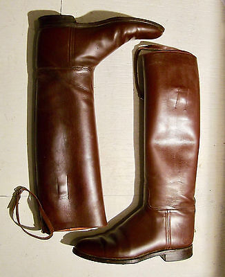 VTG Bespoke RIDING BOOTS MiLLers ENGLAND ALL LEATHER ENGLISH size 11.5