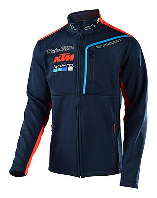 2017 Troy Lee Designs TLD KTM Go Pro Licensed Team Pit Polar Fleece Navy Blue MX