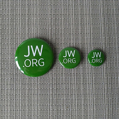 JW.org / Jehovas Zeugen / Button / Pin / Badge / 25mm / 32mm / 56mm / Grün
