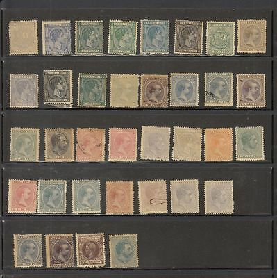 oldhal-Philippine Islands-Lot of Stamps- Spanish Administration
