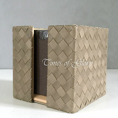 NEW Bottega Veneta Home Accessories INTRECCIATO Pleated Leather Pen Paper Holder