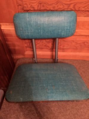 Vintage Blue Folding Clamp On Boat Seat