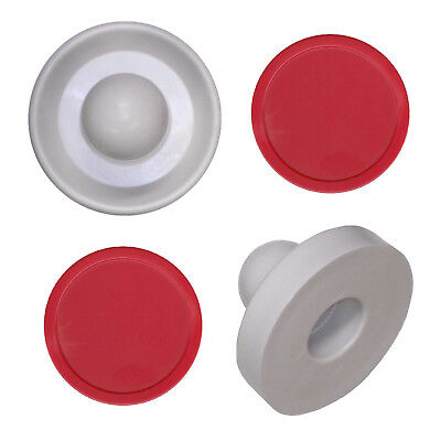 2 Commercial Table Hockey Paddles + 2 Red Large Air Pucks.