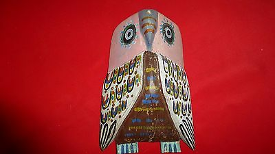 Rare Ca 1900 Hopi Indian Carved Wooden Mask / Wonderful Paint And Patina To Wood
