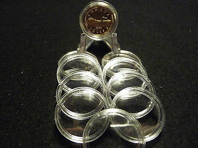 CANADIAN  COIN CAPSULES   27 mm ( $ 1 LOONIES) (pkg of 10 )  (#4)