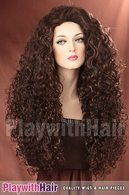 Massive Full Flowing Wig Frosted Brown Mix