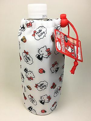 New Pet Bottle Trekking Flask Insulated Cover Carrying Purse -Hello Kitty Sanrio