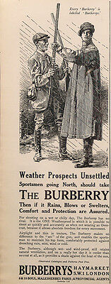 1924 The Burberry Weatherproof Coat for the Sportsman Vintage UK Magazine Ad