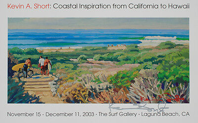 Trestles California surf poster of lowers surfers by KEVIN SHORT