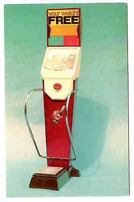 Weight Scale~Dr Pepper Cola --Free Coin Operated Advertisment--Clean Crisp & Col