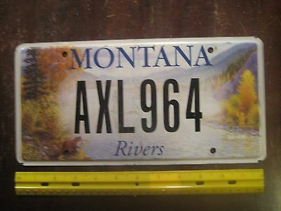 License Plate, Montana, Special Series: Rivers, Beaver, River, +++