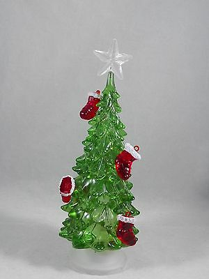 Green LED Light Up Christmas Tree with Stockings Christmas Home Decor new