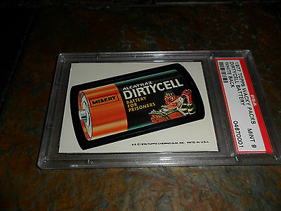 1976 1977 Topps 16Th Wacky Packs Packages Dirty Cell Battery 16 Wb Psa 9 Mint
