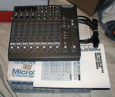 Mackie Micro 1202-VLZ 12 Channel Mic/Line Mixer - w/Instructions & Box