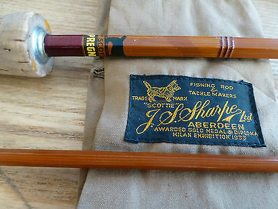Vintage J S Sharpes Scottie 2-piece Cane Trout Fly Fishing Rod