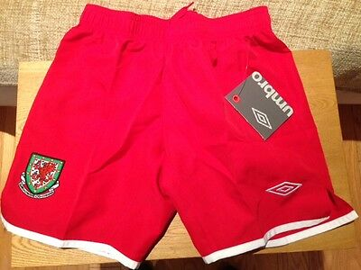 Wales Umbro Football Shorts Boys SB-XLB