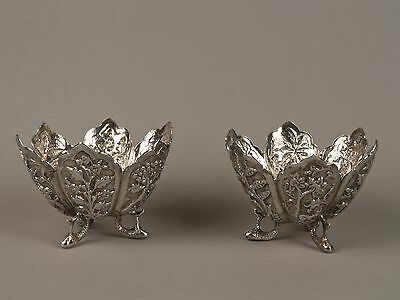 A Pair of 19th Century Indian Silver Bon-Bon Dishes - Lucknow.