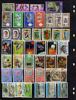 Dominica - 44 stamp selection - 1968 - 1975 Mint & Used