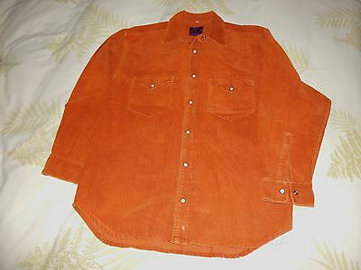 vintage early 1990's McBlue Corduroy shirt Brown