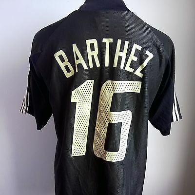 France 2002 Keepers Football Shirt #16 Barthez Adidas Jersey Size Adult L