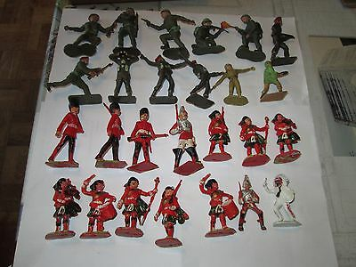 Selection Of Old British Plastic Toy Soldiers