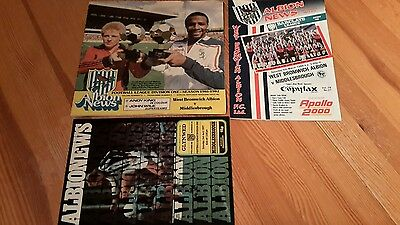 3 - West Bromwich Albion v Middlesbrough Programmes 1977-1988