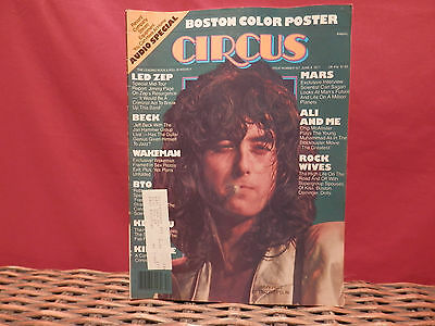 Circus Magazine (June 9 1977)   Jimmy Page/Jeff Beck/Boston Color Poster & More!