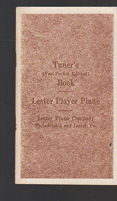 Tuner's Vest Pocket Edition Book Lester Player Piano