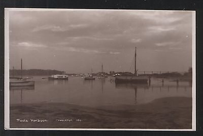Postcard - Boats in Poole Harbour, Dorset - unposted.