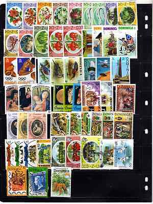 Dominica - 56 stamp selection - 1975 - 1979 Mint & Used