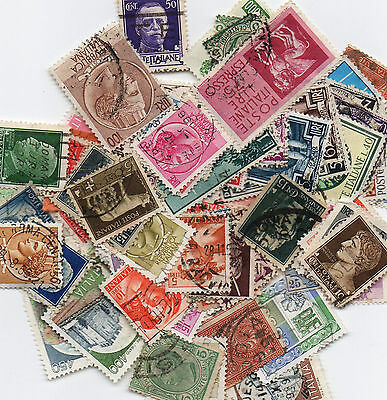 100 Stamps from Italy