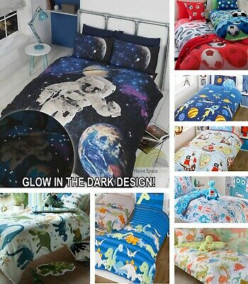 Boy's Quilt Duvet Cover Bedding Bed Sets Single or Double Sizes Kid's Bed linen