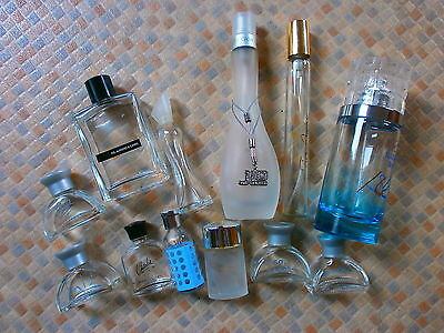 Perfume Bottles - Empty - Mini's & Full Size Including Glow By J-Lo