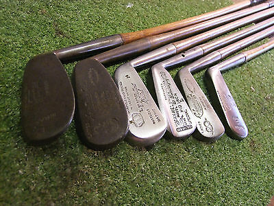 Vintage Hickory Ladies Iron play set old golf good makers memorabilia