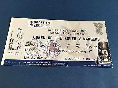 Queen Of The South V Rangers Scottish Cup Final 2008 Ticket
